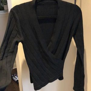 Vintage surplice black top